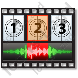 Movie Sound Frame Horizontal Icon, PNG/ICO, 256x256