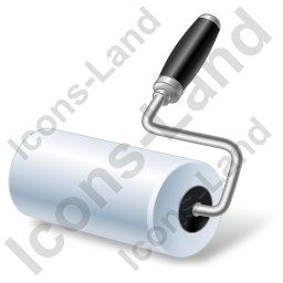 Paint Roller Icon, PNG/ICO, 256x256