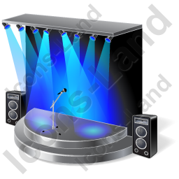 Stage Concert Icon, PNG/ICO Icons, 256x256, 128x128, 64x64 ...