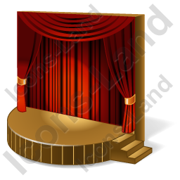 Stage Theater Icon, PNG/ICO Icons, 256x256, 128x128, 64x64 ...