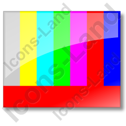 Test Pattern Color Bars Icon