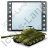Film Genre War Tank Icon, PNG/ICO, 48x48