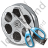 Film Reel Cut Icon, PNG/ICO, 48x48
