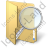 Folder Search Icon, PNG/ICO, 48x48
