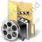 Folder Video Icon, PNG/ICO, 48x48