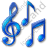 Music Notation Notes Icon, PNG/ICO, 48x48
