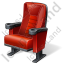 Cinema Chair Icon, PNG/ICO, 64x64