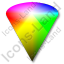 Colors HSV Cone Icon, PNG/ICO, 64x64