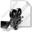 File Movie Camera Retro Icon, PNG/ICO, 64x64