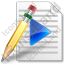 File Playlist Pencil Icon, PNG/ICO, 64x64