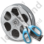 Film Reel Cut Icon, PNG/ICO, 64x64