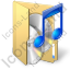 Folder Audio Icon, PNG/ICO, 64x64