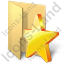 Folder Favorites Icon, PNG/ICO, 64x64