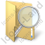 Folder Search Icon, PNG/ICO, 64x64