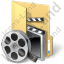 Folder Video Icon, PNG/ICO, 64x64