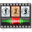Movie Sound Frame Horizontal Icon, PNG/ICO, 64x64