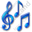 Music Notation Notes Icon, PNG/ICO, 64x64