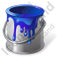 Paint Standing Blue Icon