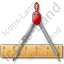 Ruler Compasses Icon