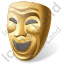 Theater Mask Comedy Icon
