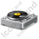 DJ Turntable Icon, AI,