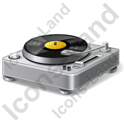 DJ Turntable Icon, AI, 256x256