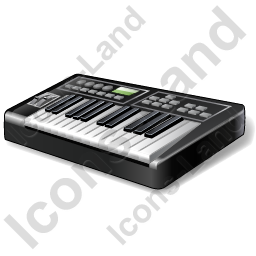 Electronic Keyboard Icon, PNG/ICO, 256x256