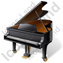 Piano Icon, PNG/ICO, 256x256
