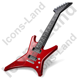 Rock Guitar Icon, PNG/ICO, 256x256