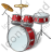 Drum Set Icon, PNG/ICO, 48x48