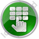 ATM Keypad Circle Icon