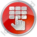 ATM Keypad Circle Red Icon, PNG/ICO, 128x128