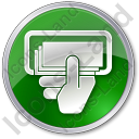 ATM Money In Hand Circle Green Icon, PNG/ICO, 128x128