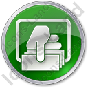 ATM Money Out Circle Green Icon, PNG/ICO, 128x128