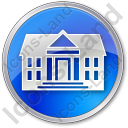 Administration Circle Blue Icon