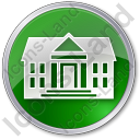 Administration Circle Green Icon, PNG/ICO, 128x128