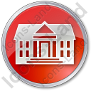 Administration Circle Red Icon