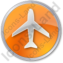 Airport Circle Orange Icon, PNG/ICO, 128x128