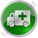 Ambulance Circle Green Icon
