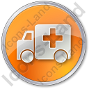 Ambulance Circle Icon