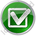 Approved Circle Green Icon, PNG/ICO, 128x128