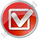Approved Circle Red Icon, PNG/ICO, 128x128