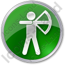 Archery Circle Green Icon, PNG/ICO, 128x128