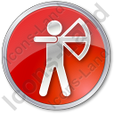 Archery Circle Red Icon