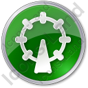 Attraction Circle Green Icon