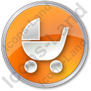 Baby Carriage Circle Icon
