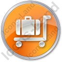 Baggage Cart Circle Icon