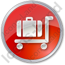 Baggage Cart Circle Red Icon, PNG/ICO, 128x128