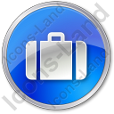 Baggage Circle Blue Icon, PNG/ICO, 128x128