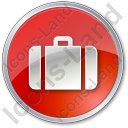 Baggage Circle Red Icon, PNG/ICO, 128x128